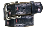 Farmall IH Black Vintage Weathered Genuine Leather Belt