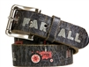 Farmall IH Black Vintage Tractor Weathered Genuine Belt