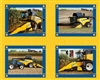 New Holland Combine Pillow Cotton Panel