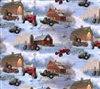 Barns and Tires Cotton Fabric