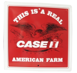 Case IH American Farm 12x12 Embossed Metal Sign