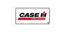 Case IH Agriculture Logo White License Plate