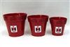 IH Red 3Pc. Planter Set