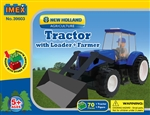 New Holland Tractor with Front Loader Block Set