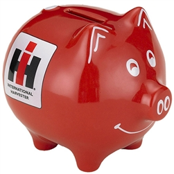 International Harvester Red Piggy Bank