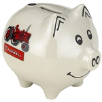 Farmall White with Tractor Piggy Bank