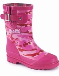 "Case IH ""Very Pink Camo"" Youth Boot with Case IH Logo"
