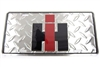 IH Logo Diamond Plate License Plate