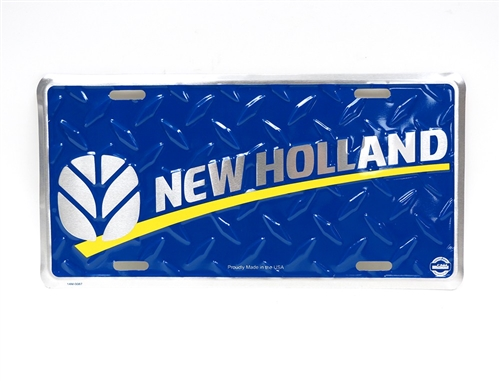 New Holland Ledger Plate : New holland blue license plate