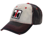 IH DISTRESSED BLACK, WHITE AND RED HAT