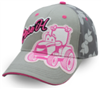 Case IH Toddler Pink & Gray Script with Tractor Cartoon Cap