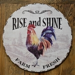 RISE AND SHINE, ROOSTER, FARM FRESH