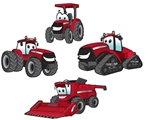4-Pc Cartoon Tractor Characters Repositionable Graphics