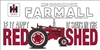 IH Farmall RED SHED Sticker