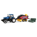1:64 T8.380 Tractor with Square Baler