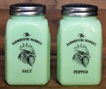 Arch Salt & Pepper, Farmhouse Market, Jadite, Depression Style Glass