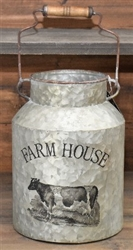 Farmhouse Milk Can with Handle