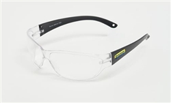 New Holland Safety Eyewear, Black Frame, Clear Lens