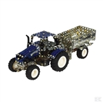 1/64th TRONICO T9561 New Holland T5-115 + trailer Metal Construction Kit
