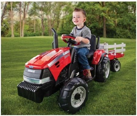 Case Ih Tractor With Stake Side Trailer Battery Operated