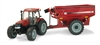 1:16 Big Farm Case 180 Tractor with J&M Grain Cart