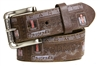 Farmall IH Brown Vintage Weathered Genuine Leather Belt