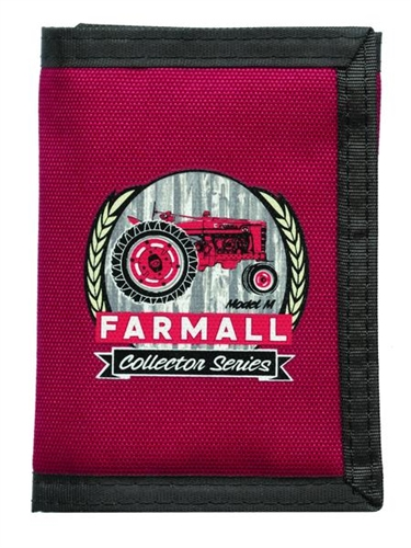 Farmall Red Nylon Trifold Wallet