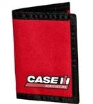 CASE IH RED NYLON TRIFOLD WALLET