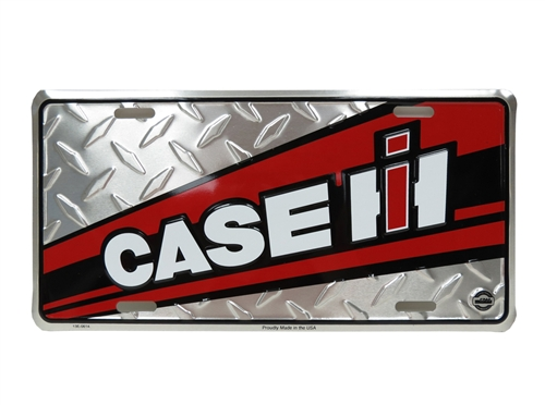 Case IH Red License Plate