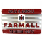 """IH Farmall Sales & Service Genuine Parts"" Corrugated Tin"