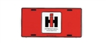 IH Red/Black License Plate