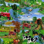 Farmall Scenic Farm Fabric