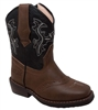Toddler's Black & Brown Western Boots