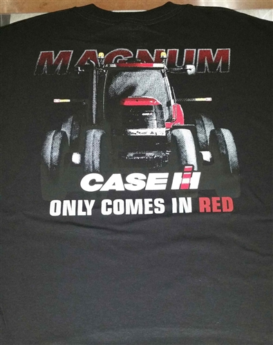 Case IH `Magnum Only Comes in RED` Black S/S Tee Shirt