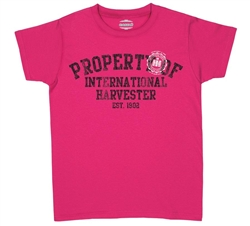 Property of International Harvester Logo Women's T-Shirt - Hot Pink