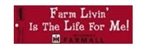 Farm Living is the Life for Me! Farmall Bumper Sticker
