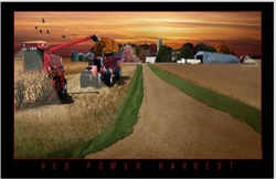 Lighted Picture - Red Power Harvest