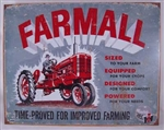 Aged Tin Sign 'Farmall Model A