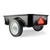 Black Steel Pedal Tractor Trailer