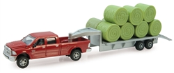 1/64th Dodge Ram Pickup w/Gooseneck Trailer & Bales