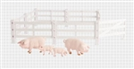 1:16 Big Farm Fence & Animal Set - Pigs
