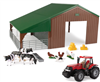1:32 DUAL PURPOSE BUILDING WITH CASE IH 305, ANIMALS AND ACCESSORIES