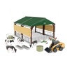 1:32 Case SV340B Skid Steer Loader with Livestock Building and Accessories